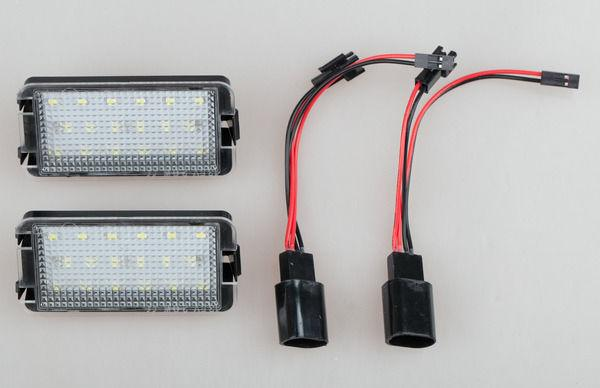 For Seat Ibiza 6L ab. 2002-2008 2x Error Free LED number License Plate Lights