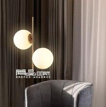 Светодиодный постмодерн Nordic железа стеклянные пузырьки дизайнерский светодиодный подвесные светильники для столовой ресторана подвесной светильник