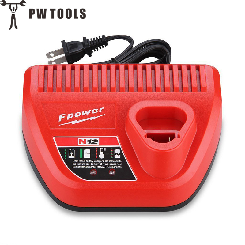 PW TOOLS High Quality Battery Charger for 10.8V-12V Multi Voltage Li-Ion Battery Replacement Electric Tools Battery Fast Charger replacement li ion battery charger power tools lithium ion battery charger for milwaukee m12 m18 electric screwdriver ac110 230v