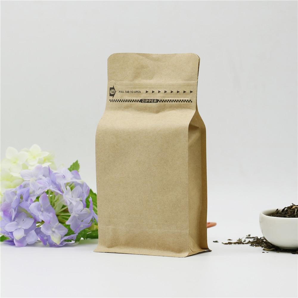 10pcs 1/4 pound kraft paper zip lock bag coffee beans ...