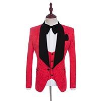 Custom Made New Groomsmen Shawl Lapel Groom Tuxedos Red/White/Black/Blue Men Prom Suits Wedding Best Man Blazer