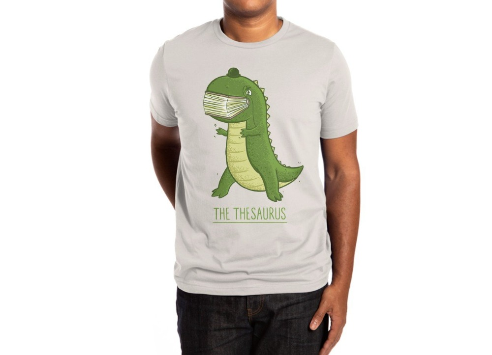 THE THESAURUS men shirts Summer Short Sleeve Shirt Tops S~3Xl Big Size Cotton Tees Free Shipping image