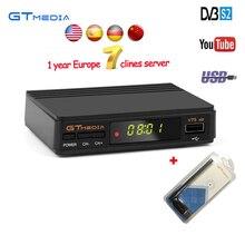 GTmedia v7 Atualizar TV Digital Via Satélite receptor Full 1080 P DVB-S2 V7S HD + USB WIFI Suporte 1 Ano Europa Clines Decodificador TV caixa