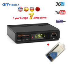 GTmedia v7 Upgrade Digital Satellite TV receiver Full 1080P DVB-S2 V7S HD+USB WIFI Support 1 Year Europe Clines Decoder TV Box