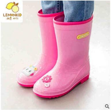 Бесплатная доставка детская Обувь Дождь Сапоги Девушки бархатные обувь Детская Резиновая обувь сапоги Детские сапоги Мальчик shoesLE160104