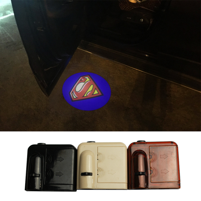 Wireless No Drill LED Laser Car Door Light Welcome Projector Light Logo Ghost Shadow Emblems Magnet & Wireless No Drill LED Laser Car Door Light Welcome Projector Light ...
