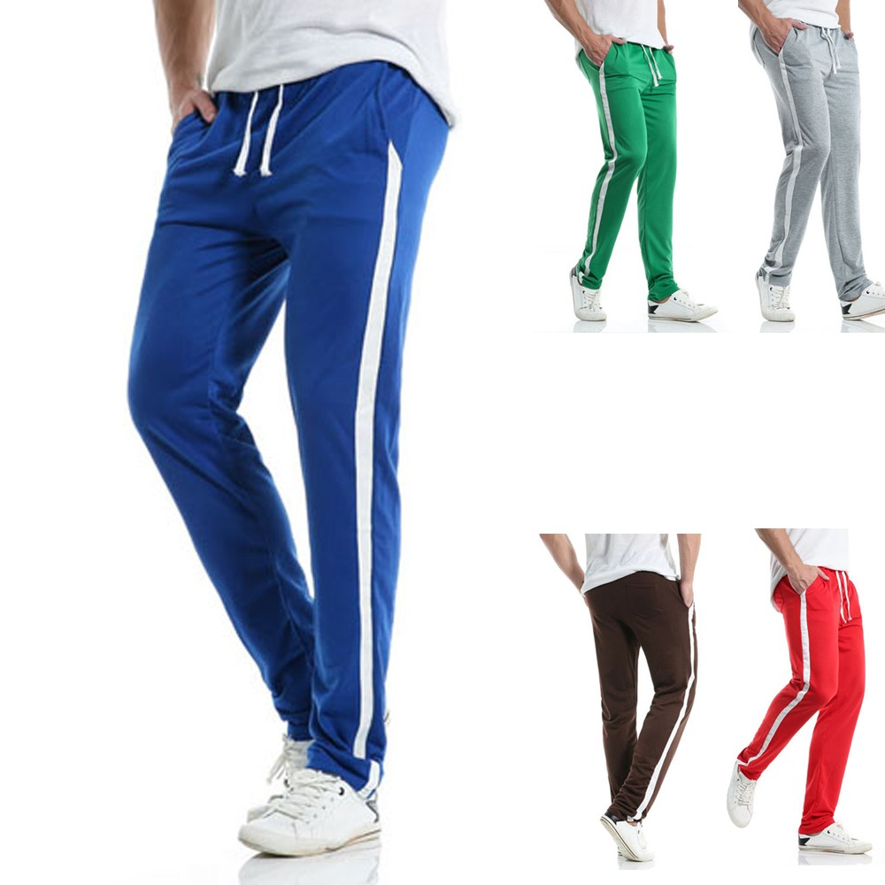 Trousers Fitted-Pants Jogger Summerslim Striped Men's Casual New Z430 Gyms