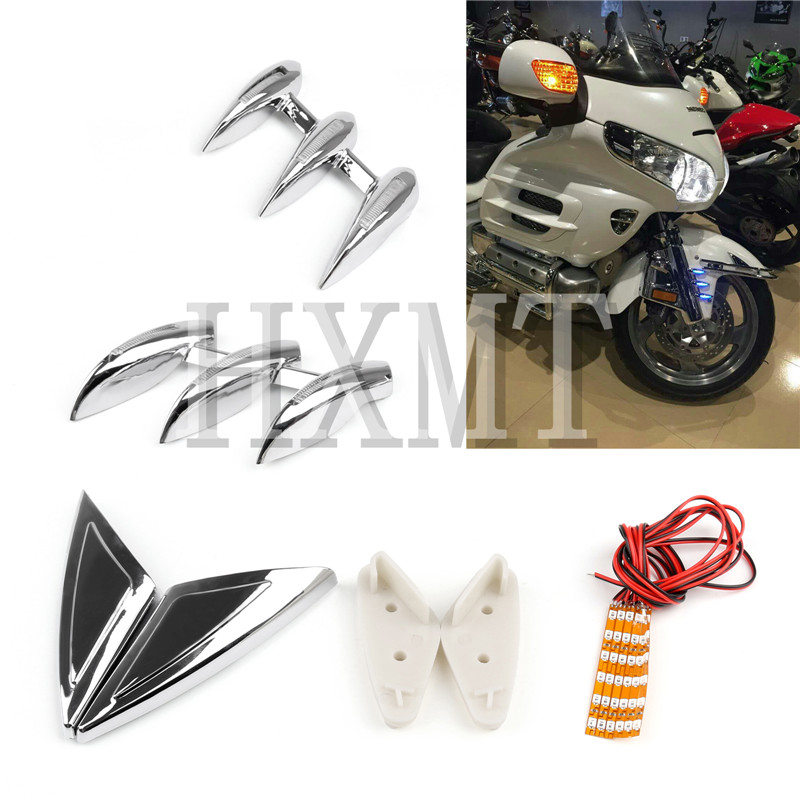 Lighted Fork Tower Accents For Honda Gold Wing GL1800 GL 1800 2001 - 2011 2002 2003 2004 2005 2006 2007 2008 2009 2010 Fairing