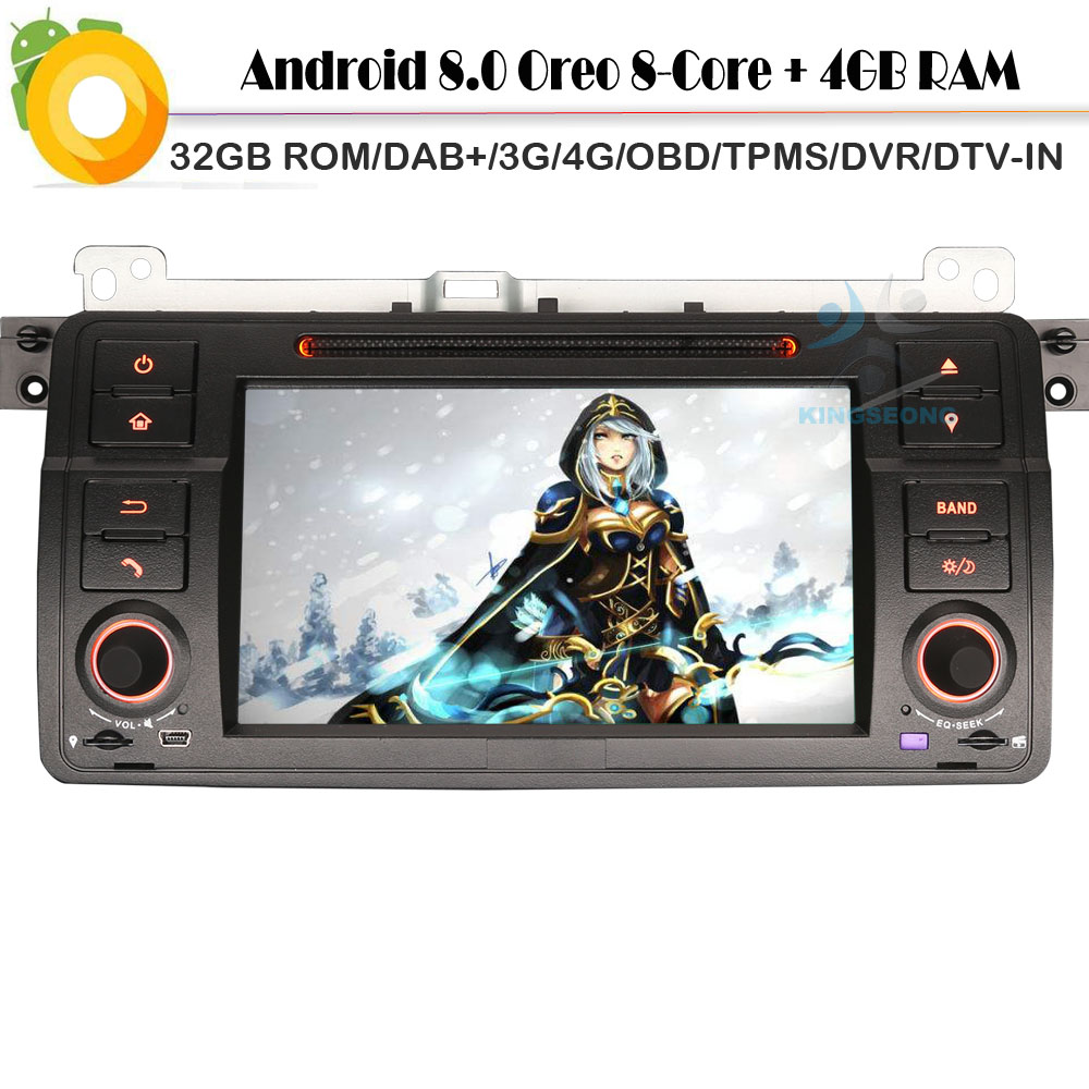 Car stereo Car CD player DAB+ for BMW E46 3er 320  Sat Nav Octa core Android 8.0 DTV-IN WiFi 4G CD GPS Radio RDS OBD USB SD DVR