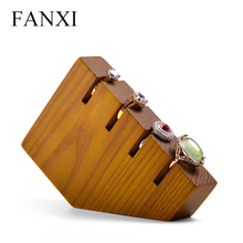 FANXI Solid Wooden Jewelry Display 4 Ring Bracelet Holder Stand for Shop