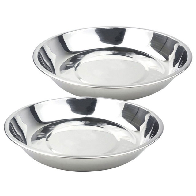 17*2.2cm Stainless Steel Dish Dinner Plate Plato Placa Dinnerware Easy Washing Dish Plate  sc 1 st  AliExpress.com & 17*2.2cm Stainless Steel Dish Dinner Plate Plato Placa Dinnerware ...