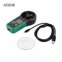 MS6252B Цифровой Анемометр Объем Воздуха Окружающей Среды Температуры И Влажности USB 2017 Лучшие Продажи