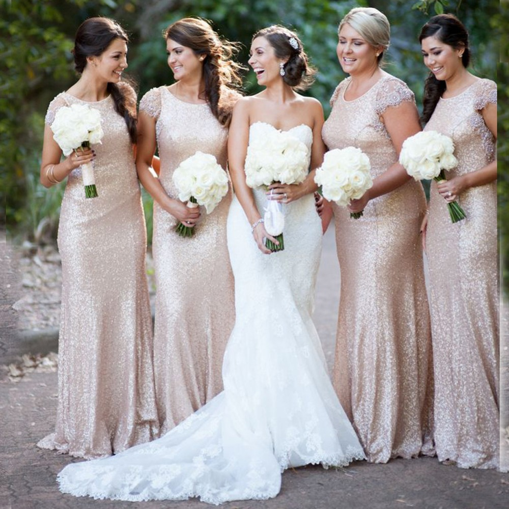 Online shop rb3 nude sequined bridesmaid dress with beaded and online shop rb3 nude sequined bridesmaid dress with beaded and lace cap sleeve prom dress mermaid party gown formal dress with zipper back aliexpress ombrellifo Choice Image
