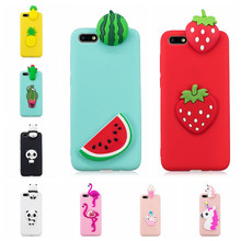 For Coque Huawei Y5 2018 3D Cartoon Unicorn Panda Phone Cases Soft TPU Silicon Back Cover For Fundas Huawei Y5 Prime 2018 case