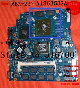 Placa For Sony VPCSB series MBX-237 A1863532A with i5 CPU onboard Computer System Board
