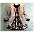 Girls Flower Faux Fur Wool Coat Jacket Jacktets Girl Wnter Spring Outwear Princess Kids Clothes Korea Style age 2 3 4 5 6 7 t Y