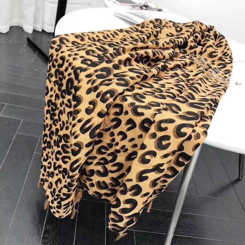 2019 na moda inverno leopardo cachecol, animal impressão muçulmano hijab, all-match senhora macio grande lenço de cabelo envoltório, cachecóis pashmina quentes