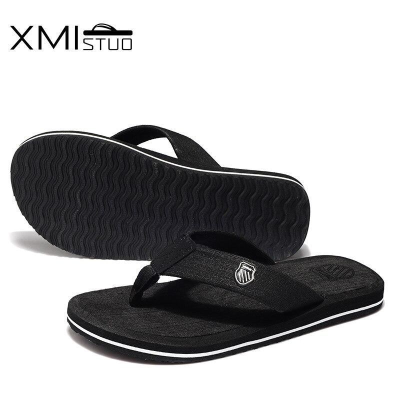XMISTUO Big Size Men Shoes Cool Men Flip Flops For Loose-fitting Men Beach Slippers, Rubber Flip-flops Outdoor Men Sandals
