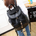Realer Brand Preppy Style School Backpack  Leather Fashion Women Shoulder Bag With Two Solid Pocket For Teens Girls