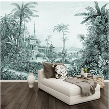 beibehang papel parede  Custom wallpaper Hand painted tropical rainforest landscape wall papers home decor 3d murals