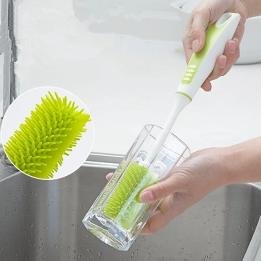 Cleaning Brush for cup Long Handle Glass Bottle Soft Nano Cup Brush for home Detachable Household Cleaning Tools in Cleaning Brushes from Home Garden