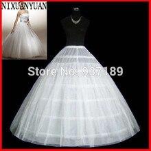 Высокое качество Белый 6 обручей подъюбник кринолин скольжения Нижняя юбка для свадебного платья свадебное платье