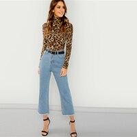 Camiseta Leopardo de mangas y cuello largo Paraíso de la Moda | PdM