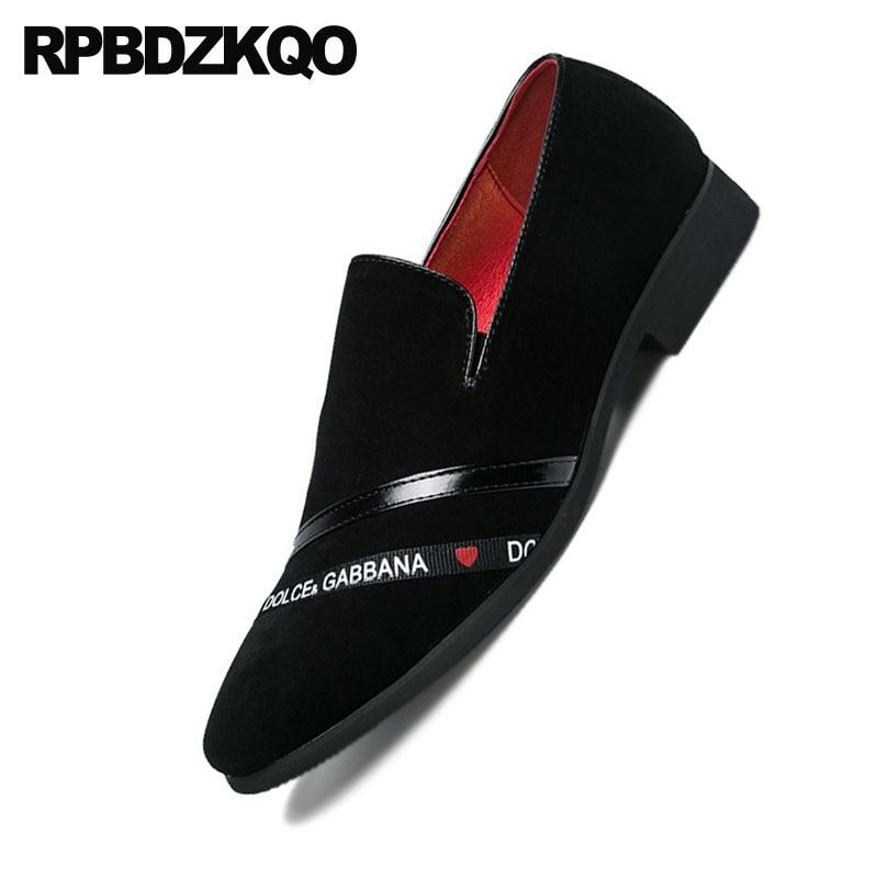 Bal Suede En Britannique De Chaussures Hommes Club Designer Noir Plus Confort Caoutchouc Cuir Sur 2018 Bout Taille Style Noir La Rouge Casual Slip Pointu rouge hQrtCsdx