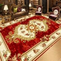 Red Stone Pattern European Carpet Custom 3D Floor Wallpaper Bathroom Kitchen 3D Floor Mural Self Adhesive