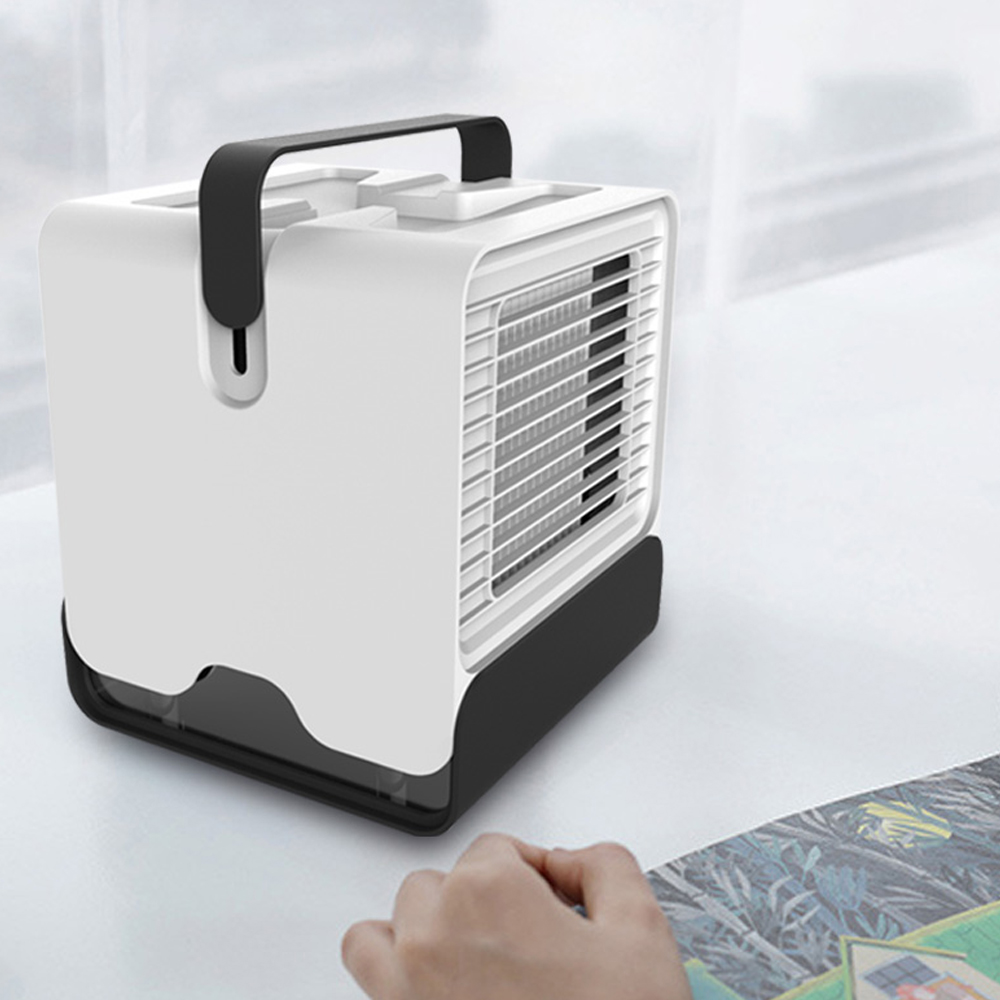 Mini USB Portable Air Conditioner Fan Desktop Air Cooler Humidifier Purifier LED Light Office Dormitory Cooling Mobile Fan in Power Tool Accessories from Tools