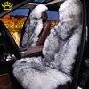 100 Natural Fur Australian Sheepskin Car Seat Covers Universal Size 6 Colors Long Hair For Car