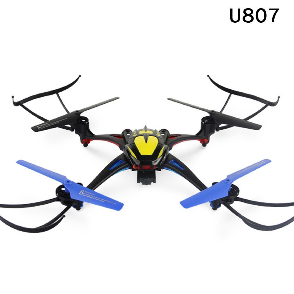 RC drone U807 with 2.0MP HD Camera 2.4G 4CH 6-Axis RC Drone With Light and LCD Controller rc Quadcopter helicopter RTF kid gifts x5c syma drone explorers 2 4g 4ch rc airplane 4ch rc quadcopter with hd camera lcd drone rtf 2g with light