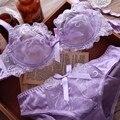 2017 New Brand Women underwear Bra Sets , BRA + Hollow Panties Lace bra Sexy push up bra and briefs sets brassiere lingerie set