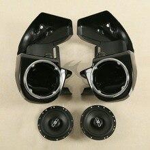 цена на Lower Vented Fairings Box Pods +6.5 Speakers For Harley Road King Electra Glide FL Models 83-13