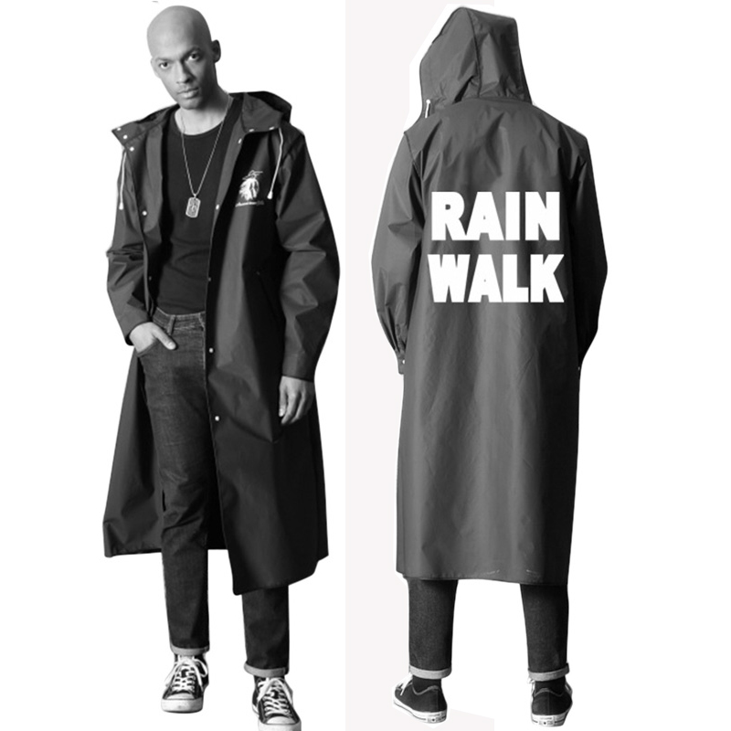 Hooded Jacket Rain Raincoat Cover EVA Waterproof Rainwear For Age 6~12 Kids
