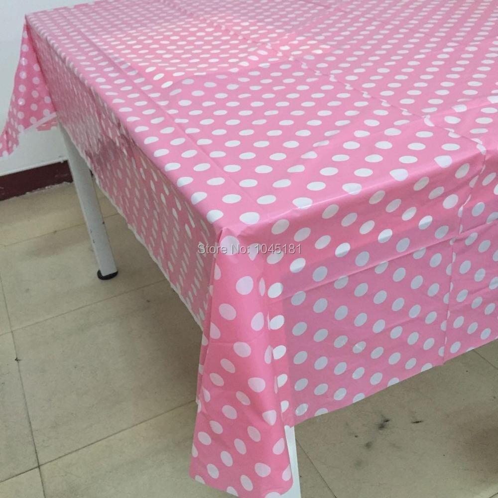 acheter en ligne 106e5 9e769 € 42.85 11% de réduction Nappe rectangulaire en plastique rose à pois  ipalmay nappe jetable pour approvisionnement/décoration de fête de  mariage-in ...