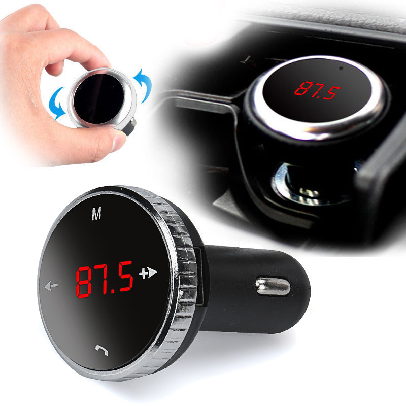 Car Fm Transmitter Wireless Bluetooth LCD FM Transmitter Modulator Car Kit MP3 Player SD w/Remote may29