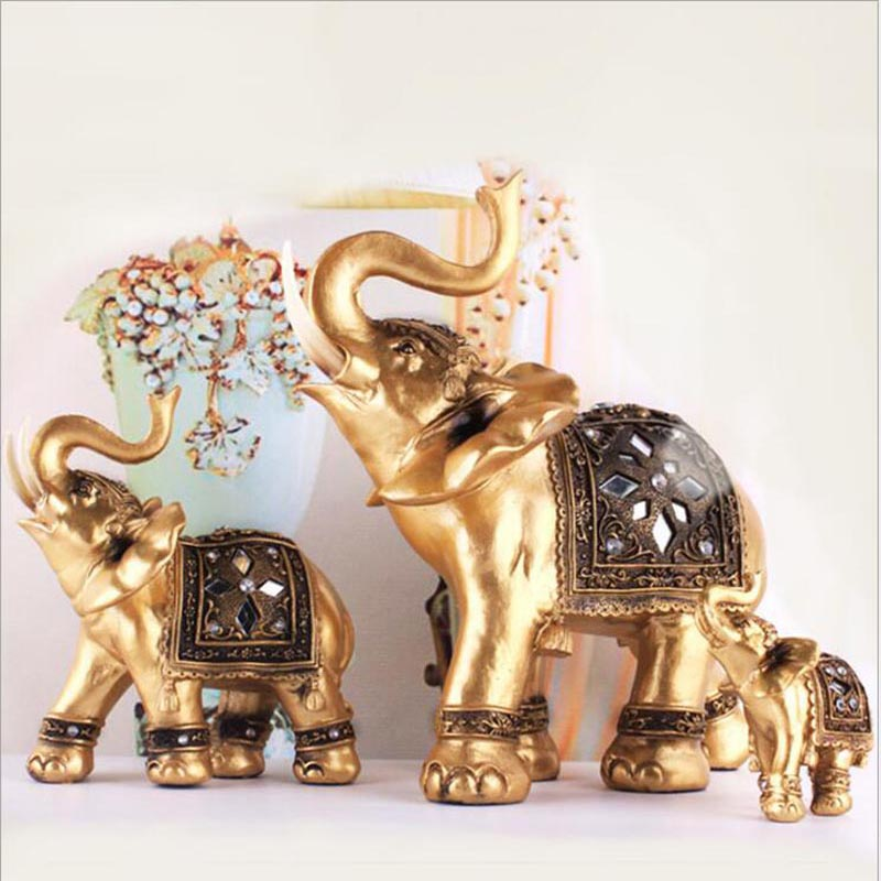 2017 Wedding Gifts Crafts Elephant Decoration Animal Resin Creative Lucky Home Decorations 13007 China