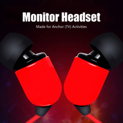 100PCS a lot High quality 3M monitor headset In-ear wired earphone earbud free hands internet anchor for xiaomi huawei