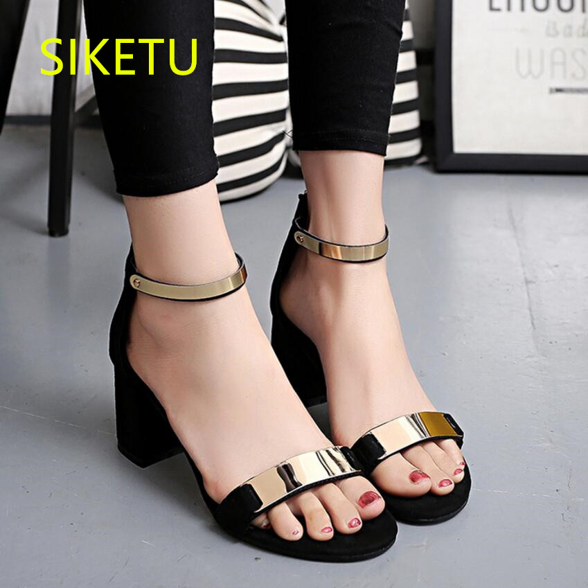 SIKETU 2017 Free shipping Spring and autumn Women shoes fashion High heels shoes Wedding shoes pumps g113 Summer sandals siketu 2017 free shipping spring and autumn women shoes high heels shoes wedding shoes nightclub sex rhinestones pumps g148