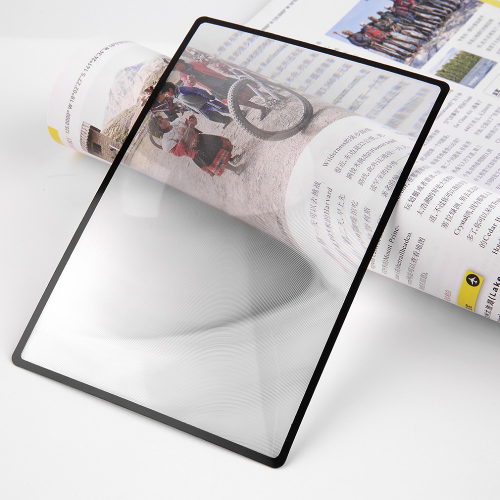 80x120mmhot Продажи Уютная A5 плоской подошве ПВХ лупа Простыни X3 страницы книги увеличение увеличительное чтение Стекло объектива