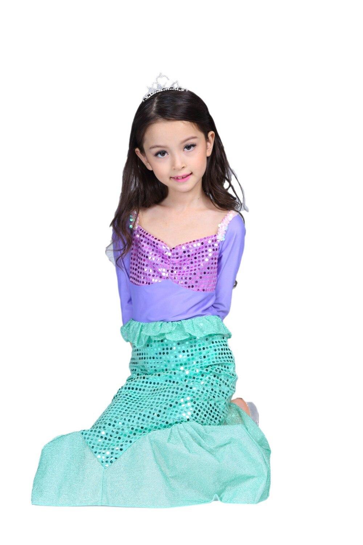 2017 New Little Ariel Child Mermaid Kids Girls Dress Up Halloween ...