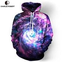Hoodies Space Galaxy Sweatshirt 3D Hip Hop Coat Casual Streetwear Hat Sweatshirt Brand Clothing 2017 Tracksuit