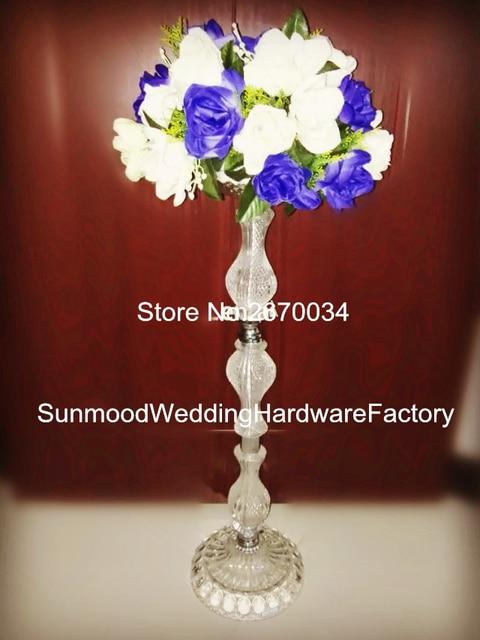Acrylic Crystal Pedestal Stands For Flowersmetal Floor Vase Stand