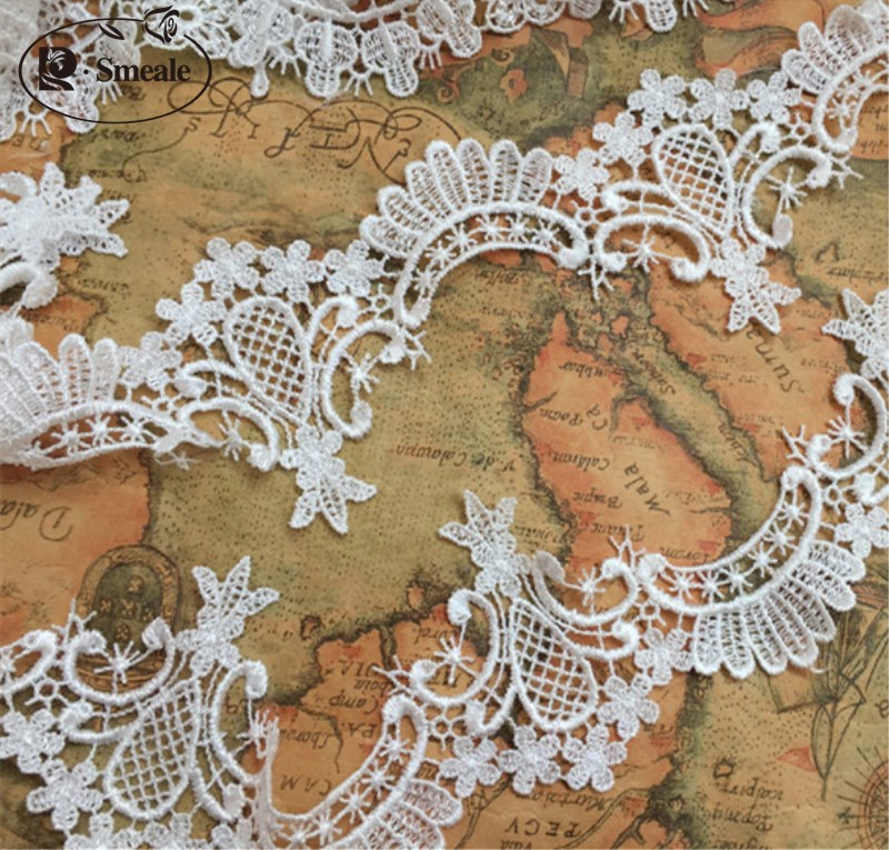 6238439581 6yards/ Lot Water Soluble Lace Fabric Lace Wedding Dress Accessories Lace  Trim RS916