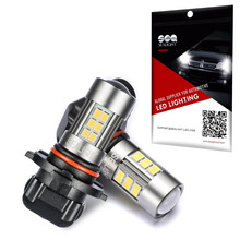 SEALIGHT 2PCS H8 H11 H16 Led H10 9145 Fog Lights Bulb 1200LM 6000K White Car Driving