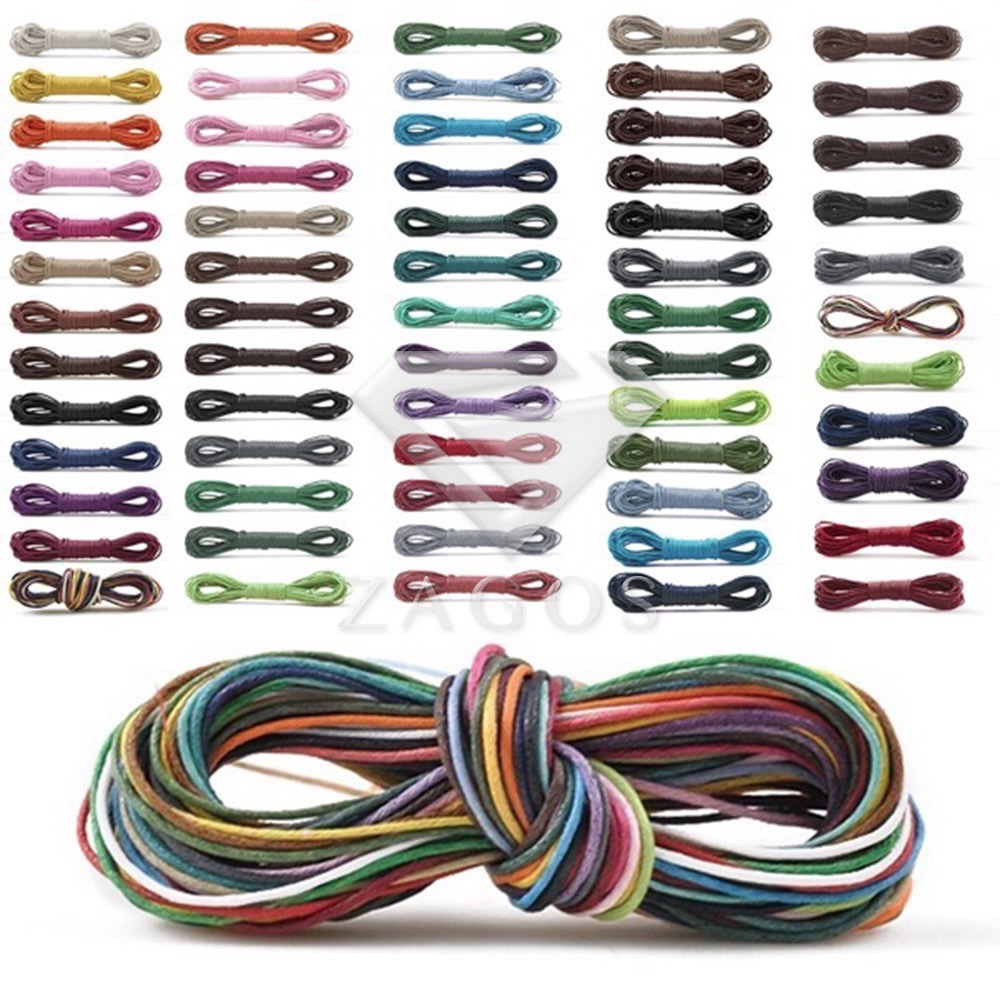 30 Color 1mm 10/30m Waxed Cotton Finding Thread Cord DIY Making Fabric Bracelet Necklace Braided Beadwork Accessory TC0104 цена