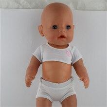 Nové bílé tričko + pánkové oblečení Nosit fit 43cm Baby Born zapf, nejlepší dětské dárek pro narozeniny