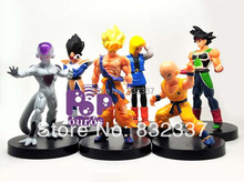 New Arrival Japanese Anime Cartoon Dragon Ball Z Action Figures Frieza/Goku/Vegeta Toys For Collection  6pcs/set Free Shipping