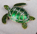 Trinket Turtle Shape Jewelry Box Turtle Trinket Jewelry Box with Sparkling Crystals Turtle Collectible Crafts